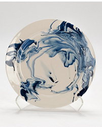 Christopher Spitzmiller Hand-Marbled Plate