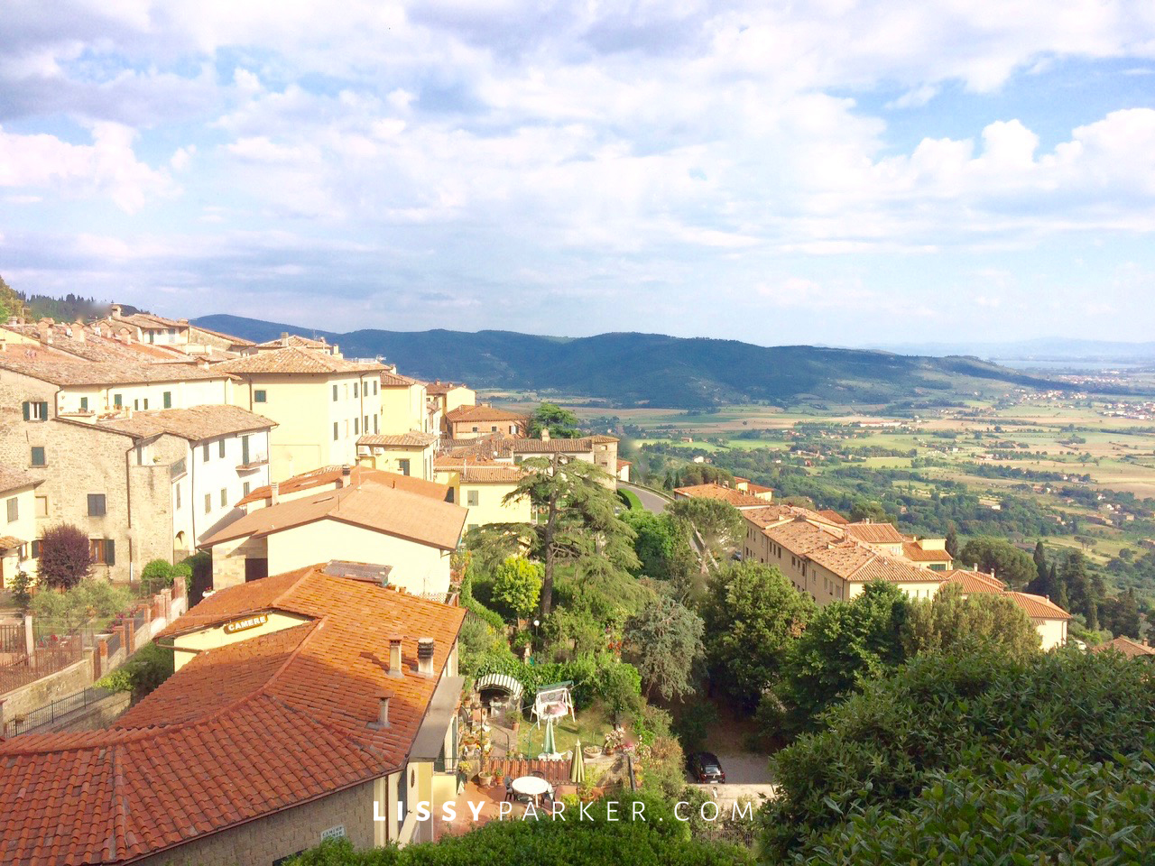 Tuscan village view