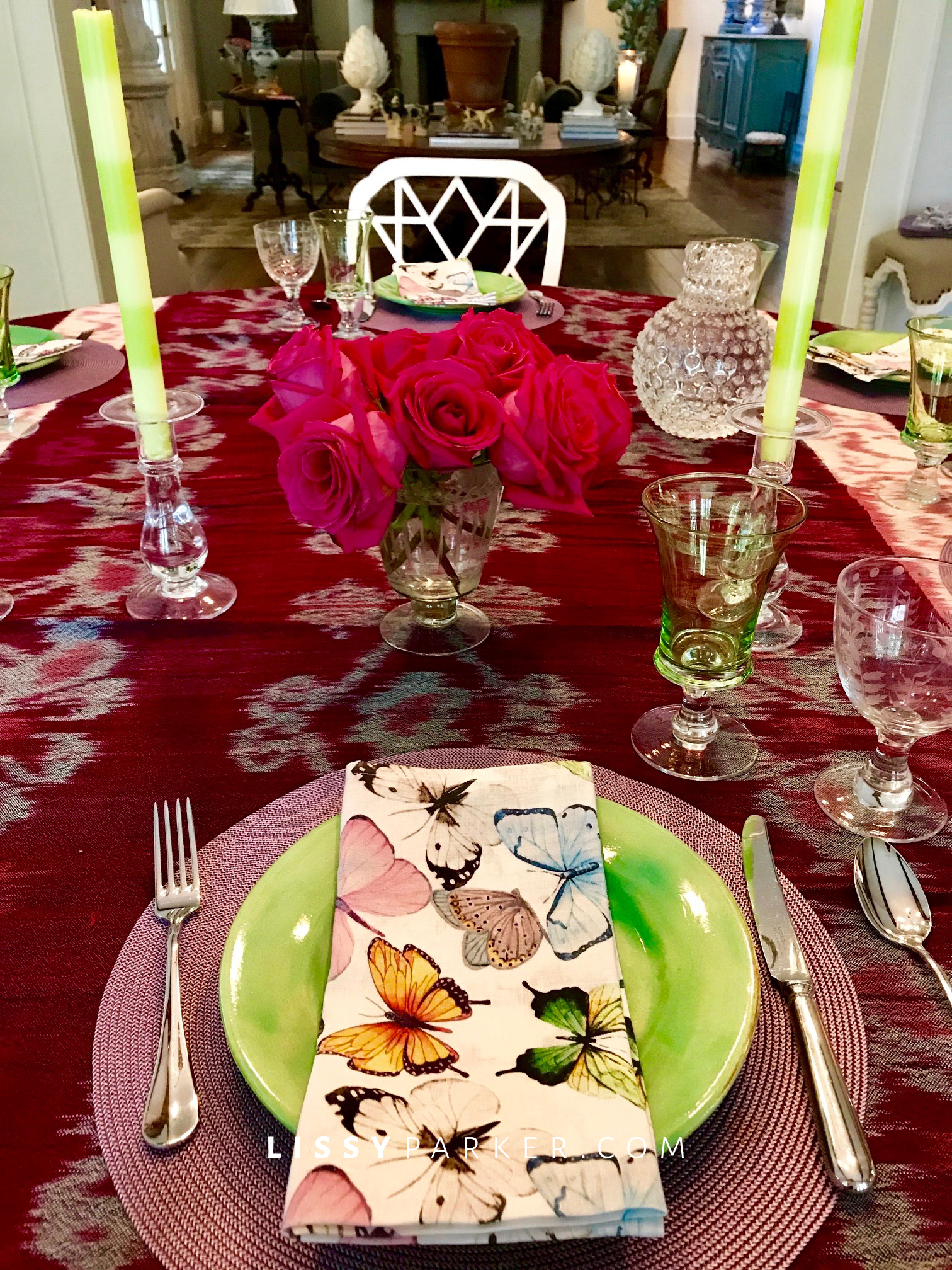 table setting for friends