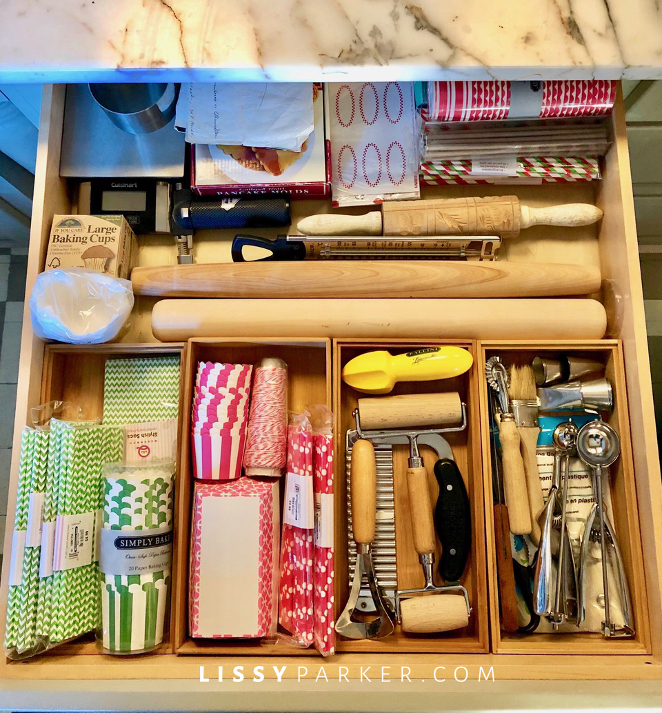baking supply drawer organization
